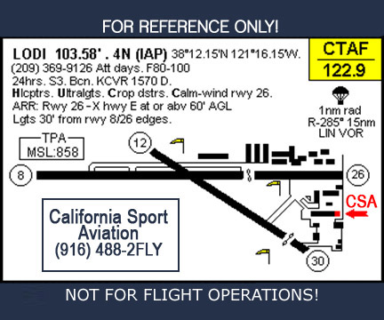 Location Map to California Sport Aviation